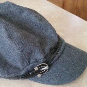 9e866aaf39e35 Nine West Women s Wool Blend Gray Newsboy Hat. NWT